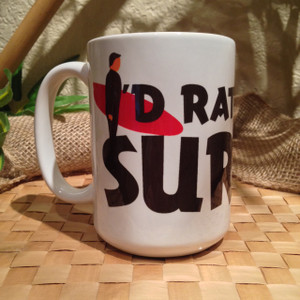 I'd Rather Be Surfin' Large Mug - 15 oz - Left View