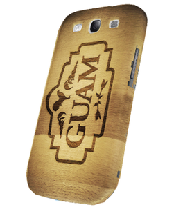 Tough Snap-on Case w/Guam Wood Motif for Samsung Galaxy S3 (Right View)