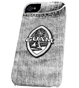 Granite Brown Hibiscus Tribal Guam Seal iPhone Cover