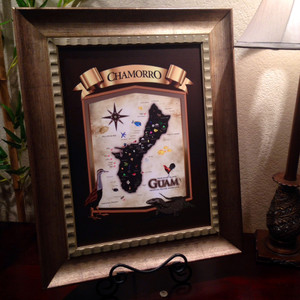 Chamorro Heritage Island of Guam Gold Framed Heirloom - 17x21