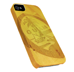 iPhone Case Wood Etched Guam Seal