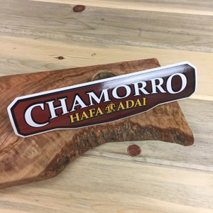 Chamorro Hafa Adai Sticker Decal - 10.5 x 3