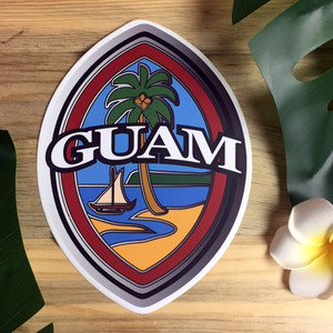 Modern Guam Seal Sticker Weather Proof Dope Decal - 6x8 Inches