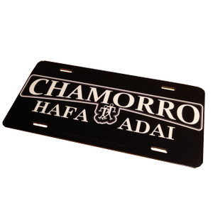 Chamorro Hafa Adai License Plate - 6x12