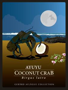 Moonlight Coconut Crab Illustration (18x24 inches)