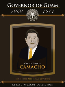 Guam Governor Carlos Camacho Fine-Art Giclee Illustrated Poster - 18x24