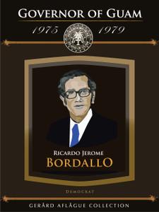 Guam Governor Ricardo Bordallo Fine-Art Giclee Illustrated Poster - 18x24