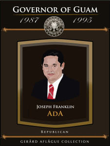 Guam Governor Joseph Ada Fine-Art Giclee Illustrated Poster - 18x24
