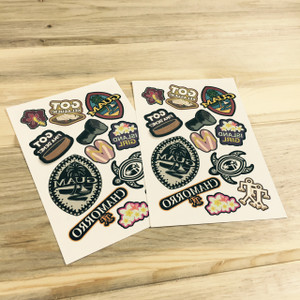 2-pc Guam-Themed Temporary Tattoos (Front Side)