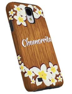 Samsung Galaxy S4 Case w/a Chamorrita Wood Motif - Left View