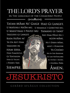 The Lord's Prayer in Chamorro w/Jesukristo Fine-Art Poster Illustration