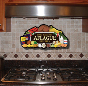 Wooden Family Name Culinary Kitchen Plaque