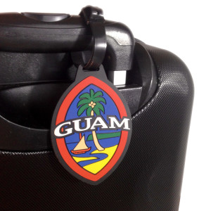 Modern Guam Seal Silicone Luggage Tag - 3x4 Inches