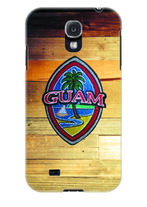 Embroidered Guam Seal on Rustic Wood Motif for Samsung Cases (Select Model)