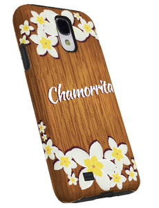 Samsung Galaxy S4 Case w/a Chamorrita Wood Motif - Left View