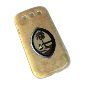 Snap-On Case w/Brown Guam Seal Motif for Samsung Galaxy S3