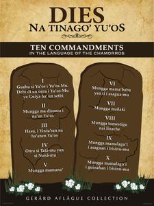 Ten Commandments in Chamorro Fine-Art Poster