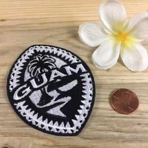 Guam Tribal Seal Embroidered Iron-On Backing - 3.25 x 2.5 inches tall