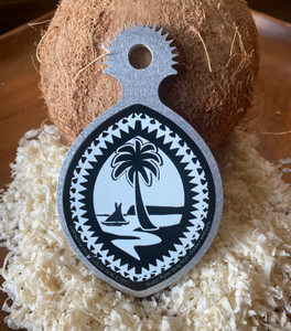 Ikamyu Mini Tribal Guam Seal Coconut Grater