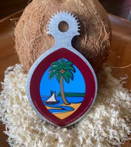 Ikamyu Mini Coconut Grater Modern Guam Seal