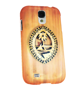 Tribal Wood Seal of Guam Samsung Cover