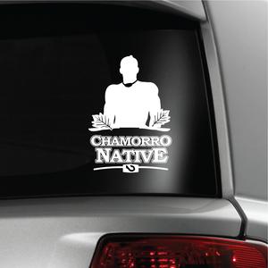 Chief Quipuha Chamorro Native White Vinyl Decal