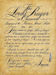 Lord's Prayer in Chamorro Calligraphy Motif