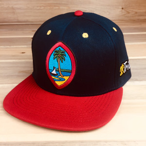 Adult Tuhong Guahan - Tribe Modern Guam Seal Snap Back Palm UnderBrim