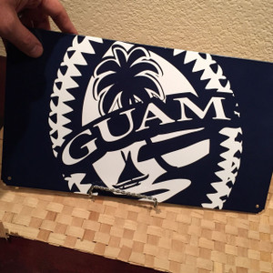 Tribal Guam Seal Wall Decor Tin Sign