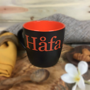 Hafa Adai Black and Orange Ceramic Mug - 10 oz