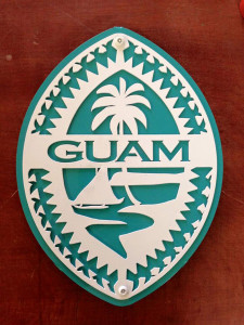 BlueGreen Tribal Guam Seal Wall Art - 8x10 Inches