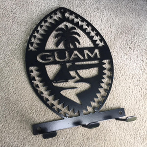 Steel Tribal Guam Seal Key Holder