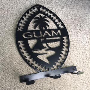 Steel Tribal Guam Seal Key Holder