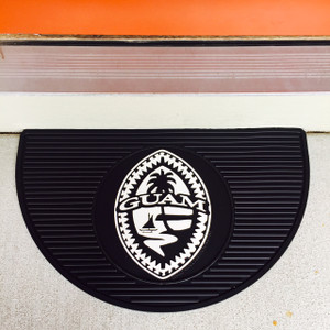 Premium All-Weather Tribal Guam Seal Door Mat - 15x25 inches