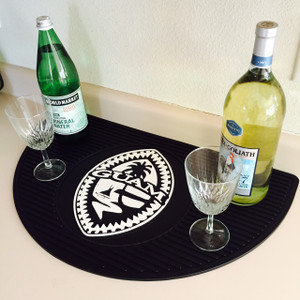 Premium All-Weather Tribal Guam Seal Wet Bar Mat - 15x25 inches