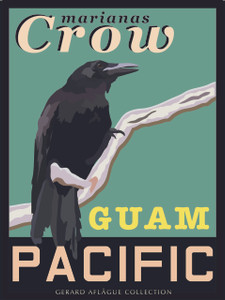 Marianas Crow Retro Poster - 18x24 inches