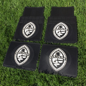 4-Piece Premium All-Weather Tribal Guam Seal Car and Truck Mats
