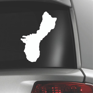 Shape of Guam Single Vinyl Decal - 5x6 inches