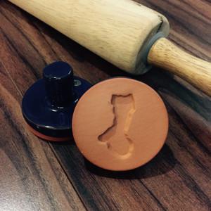 """2"""" Ceramic Shape of Guam Cookie Stamp"""