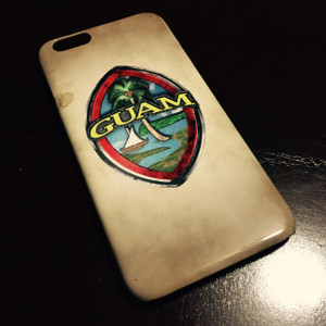 Textured Modern Guam Seal 3D Grunge Motif iPhone Case