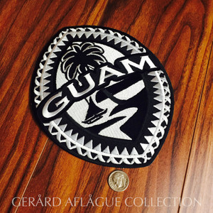 Large Tribal Guam Seal 7 Inch Embroidered Twill Patch