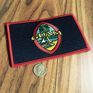 Modern Guam Flag Embroidered Iron-On Patch