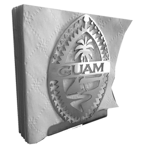 Stainless Steel Brushed Tribal Guam Napkin Holder
