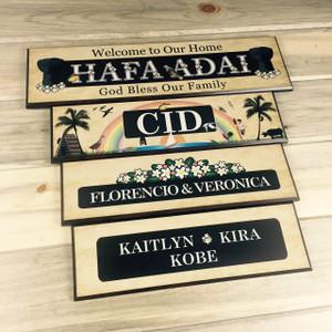 Family Names Plaque in Guam Motif