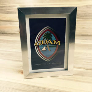 Modern Guam Seal Picture and Frame 5x7 Inches