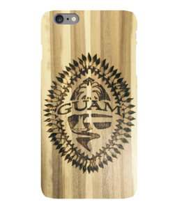 Burned Tribal Guam Seal iPhone Cover