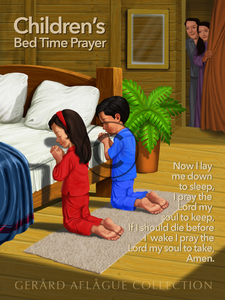 Now I Lay Me Down to Sleep Children's Prayer Poster