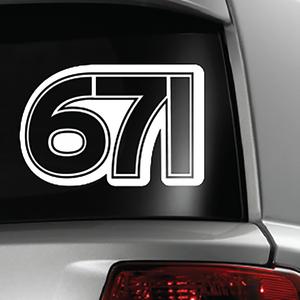 671 Guam Area Code Sticker Decal 5x6