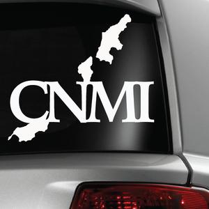 CNMI Map White Sticker Decal 6x6