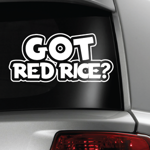 Got Red Rice Guam CNMI  White Sticker Decal 6x6
